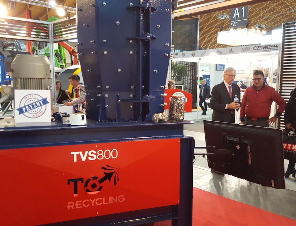 interesse per TVS800 ecomondo 2016